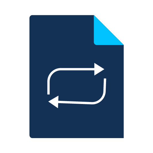 data management and migration icon