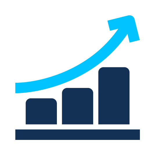 improved business performance icon
