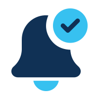 get notifications and task reminders icon